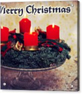 Merry Christmas Acrylic Print by Angela Doelling AD DESIGN Photo and PhotoArt