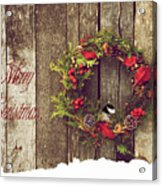 Merry Christmas. Acrylic Print by Kelly Nelson
