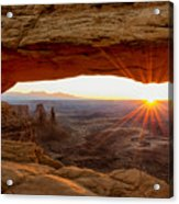 Mesa Arch Sunrise - Canyonlands National Park - Moab Utah Acrylic Print by Brian Harig