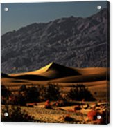 Mesquite Flat Sand Dunes Death Valley - Spectacularly Abstract Acrylic Print by Christine Till