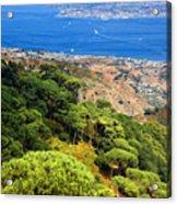 Messina Strait - Italy Acrylic Print by Silvia Ganora