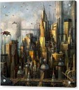 Metropolis Acrylic Print by Philip Straub