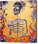 Mi Vino Acrylic Print by Heather Calderon