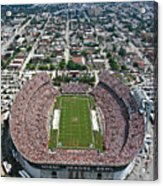 Miami Aerial Of Orange Bowl Stadium Acrylic Print by Scott B Smith Photography