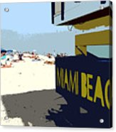 Miami Beach Work Number 1 Acrylic Print by David Lee Thompson