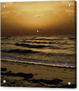 Miami Sunrise Acrylic Print by Gary Dean Mercer Clark