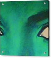 Michael Jackson - Eyes Acrylic Print by Eric Dee