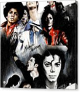 Michael Jackson - King Of Pop Acrylic Print by Lin Petershagen