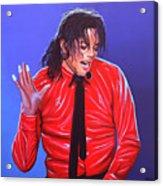 Michael Jackson 2 Acrylic Print by Paul Meijering