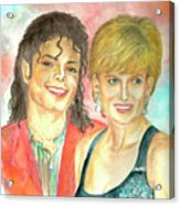Michael Jackson And Princess Diana Acrylic Print by Nicole Wang