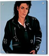 Michael Jackson Bad Acrylic Print by Paul Meijering