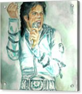 Michael Jackson Bad Tour Acrylic Print by Nicole Wang