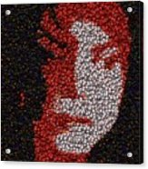 Michael Jackson Bottle Cap Mosaic Acrylic Print by Paul Van Scott