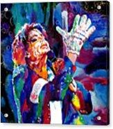 Michael Jackson Sings Acrylic Print by David Lloyd Glover