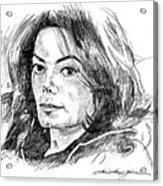 Michael Jackson Thoughts Acrylic Print by David Lloyd Glover