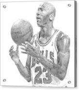 Michael Jordan Acrylic Print by William Pleasant