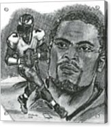 Michael Vick Acrylic Print by Chris  DelVecchio