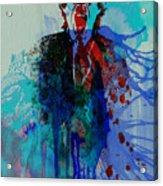 Mick Jagger Acrylic Print by Naxart Studio