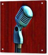 Microphone Acrylic Print by Jill Battaglia
