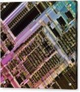 Microprocessors Acrylic Print by Michael W. Davidson