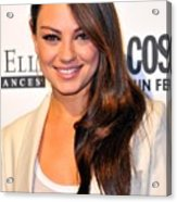 Mila Kunis At Arrivals For Cosmopolitan Acrylic Print by Everett