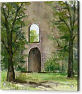 Mission Wall Acrylic Print by Arline Wagner