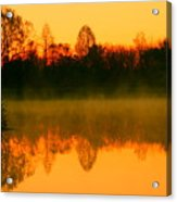 Misty Sunrise Acrylic Print by Morgan Hill