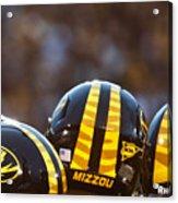 Mizzou Football Helmet Acrylic Print by Replay Photos