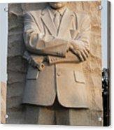Mlk Memorial In Washington Dc Acrylic Print by Brendan Reals
