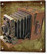 Model Vintage Field Camera Acrylic Print by Kenneth William Caleno