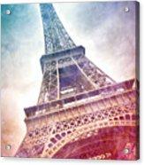 Modern-art Eiffel Tower 21 Acrylic Print by Melanie Viola