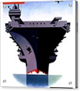Modern Mobile Mighty Navy Acrylic Print by War Is Hell Store