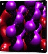 Molecular Abstract Acrylic Print by David Lane