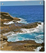 Molokai Lookout 0649 Acrylic Print by Michael Peychich