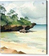 Mombasa Beach Acrylic Print by Stephanie Aarons