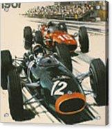 Monaco Grand Prix 1967 Acrylic Print by Georgia Fowler