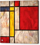 Mondrian Inspired Acrylic Print by Michael Tompsett