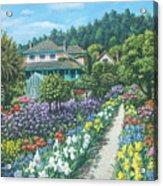 Monet's Garden Giverny Acrylic Print by Richard Harpum