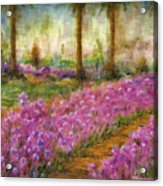 Monet's Garden In Cannes Acrylic Print by Jerome Stumphauzer