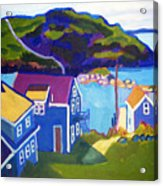 Monhegan Harbor Acrylic Print by Debra Robinson