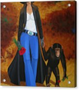 Monkeys Best Friend Acrylic Print by Lance Headlee