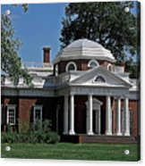 Monticello Acrylic Print by DigiArt Diaries by Vicky B Fuller