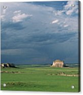 Moody-buttes Acrylic Print by Jim Benest