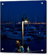 Moon Light Texting Acrylic Print by Tom Dowd