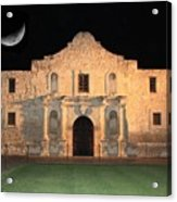 Moon Over The Alamo Acrylic Print by Carol Groenen