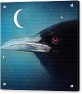 Moon Raven Acrylic Print by Robert Foster