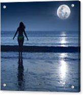Moonlight Acrylic Print by MotHaiBaPhoto Prints