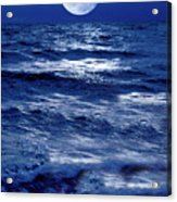 Moonlight Over The Ocean Acrylic Print by Christian Lagereek