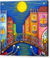 Moonlit Venice Acrylic Print by Lisa  Lorenz