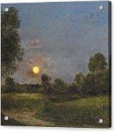 Moonrise Acrylic Print by Charles Francois Daubigny